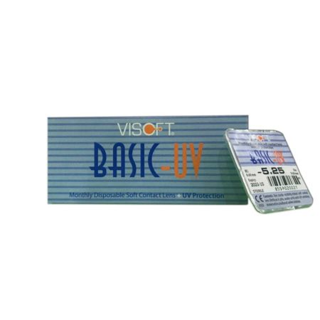 Visoft Basic-UV Clear Contact Lens + UV Protection Monthly (6 Lenses)